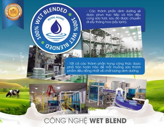 Công nghệ Wet Blend - Công nghệ sản xuất sữa bột hiện đại nhất hiện nay