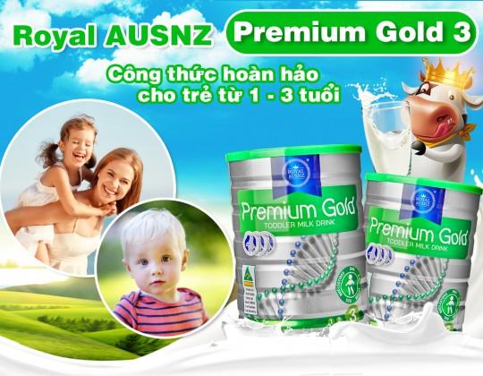 Sữa hoàng gia Úc Royal Ausnz Godl 3 - Sư lựa chọn hoàn hảo của mẹ dành cho bé yêu