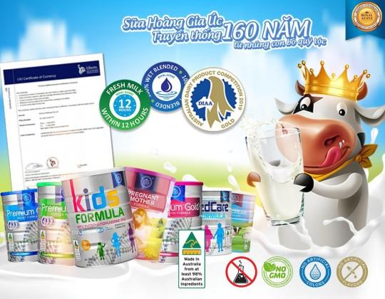 7 con số ấn tượng tạo nên thương hiệu Sữa hoàng gia Úc Royal Ausnz