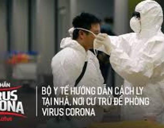 Hướng dẫn chi tiết công tác cách ly tại nhà phòng Virus Corona từ Bộ Y Tế