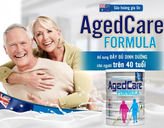 Sữa hoàng gia Úc AgedCare Formula - Dinh dưỡng đặc biệt dành cho người trên 40 tuổi